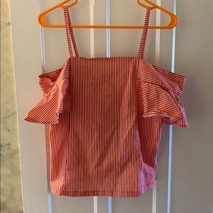 Off the shoulder top with straps